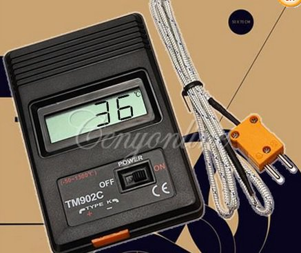 High Temperature meter -50~750�  -  Digital Thermometer TM-902C.