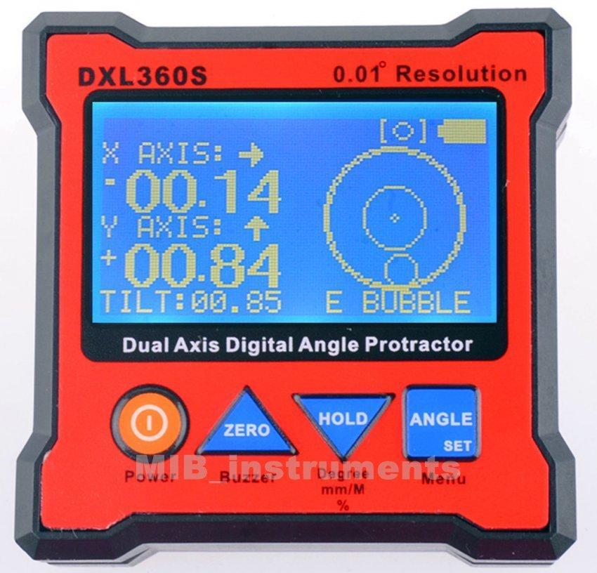 DXL360S Digital Protractor Inclinomet�er Angle finder