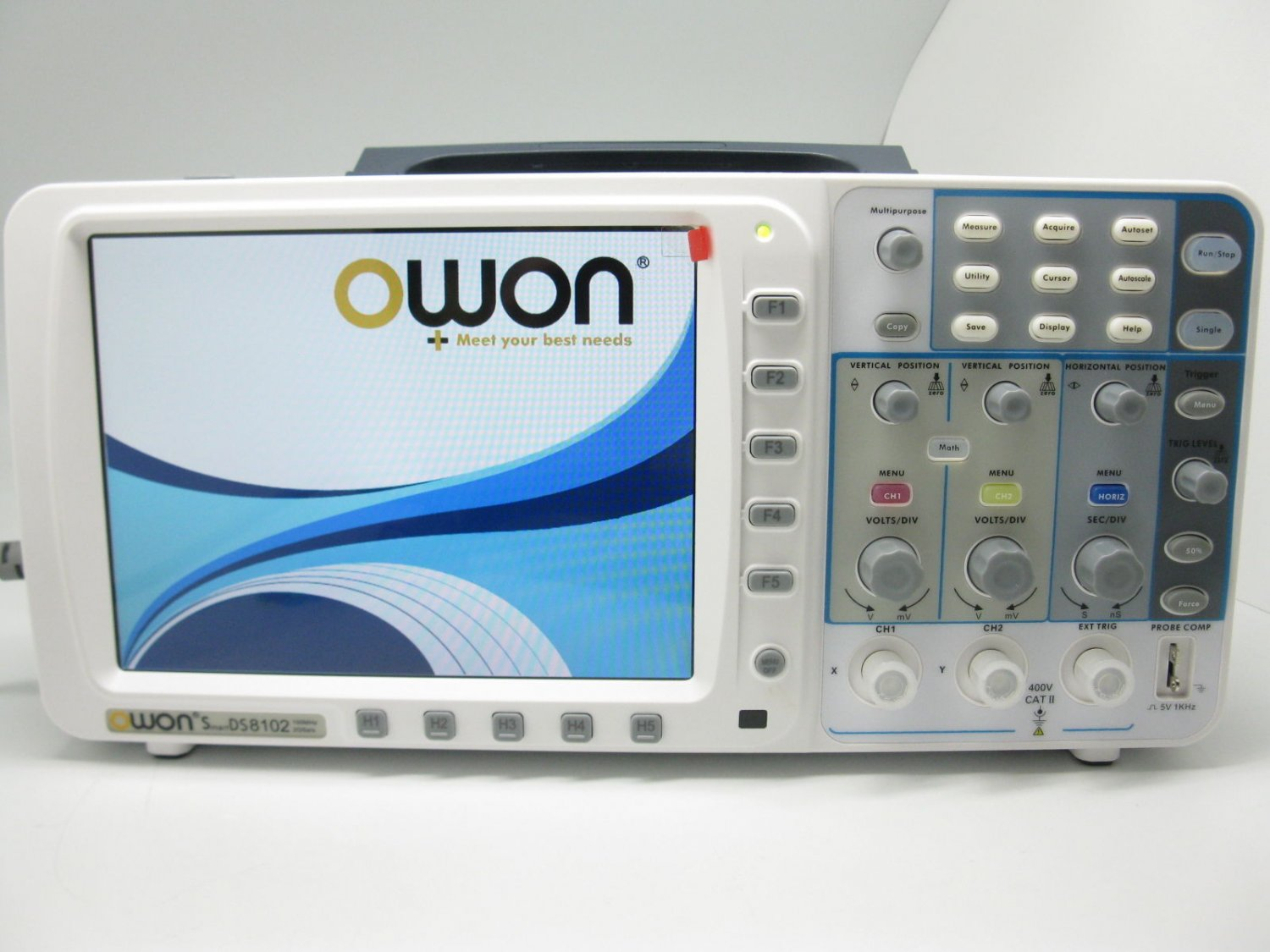 "OWON 100 MHZ OSCILLOSCOPE SDS7102 1G/S LARGE 8"" LCD WITH VGA + LAN. 3 YEARS WARRANTY"
