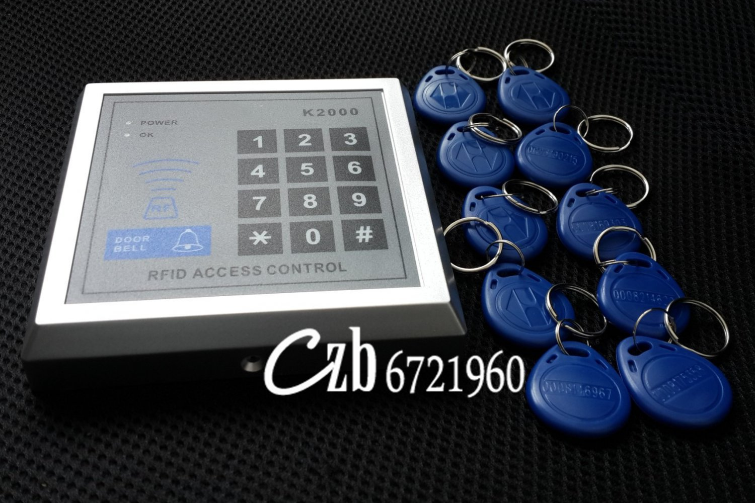 RFID  Security Door Lock Access Control System, with 10 Keys