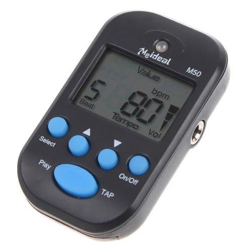 LCD Digital Beat Tempo Mini Metronome Black