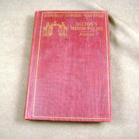 Milton's Minor Poems Edited by Mary A. Jordan Gateway Series