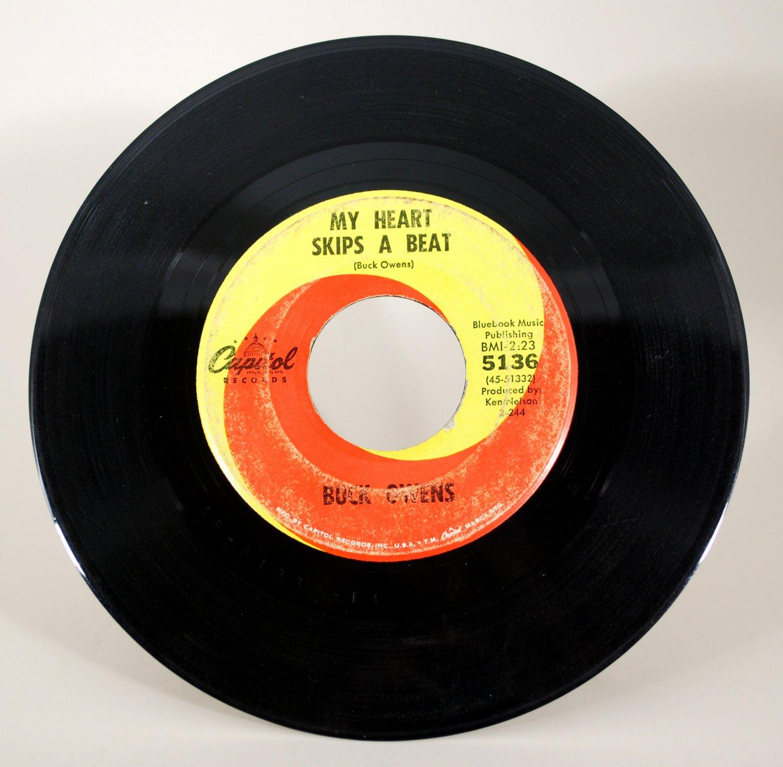 Buck Owens - My Heart Skips A Beat 45 RPM Vinyl Record