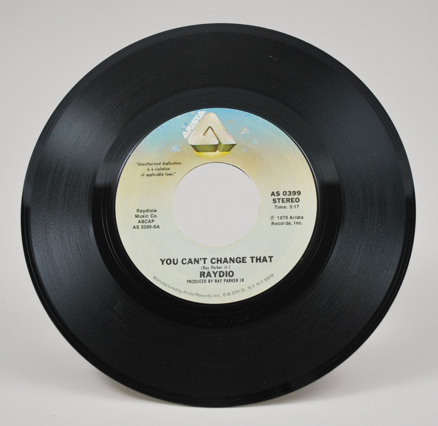You Can't Change That / Rock On by Raydio 45 RPM Arista Vinyl Record 1979