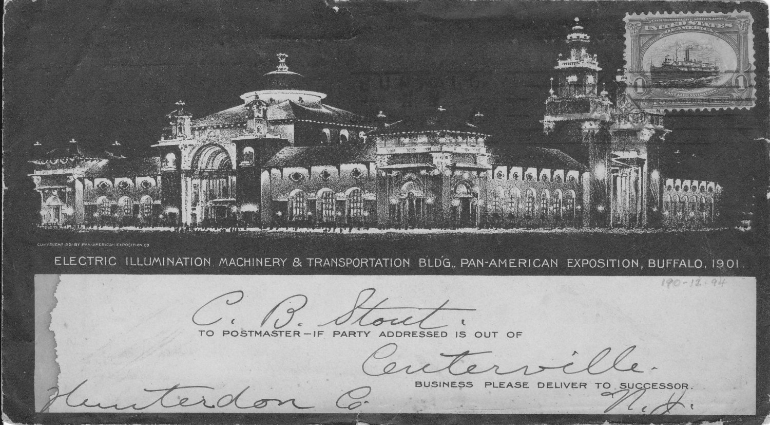 Rare Pan Am Expo cover with stamp & slogan cancel