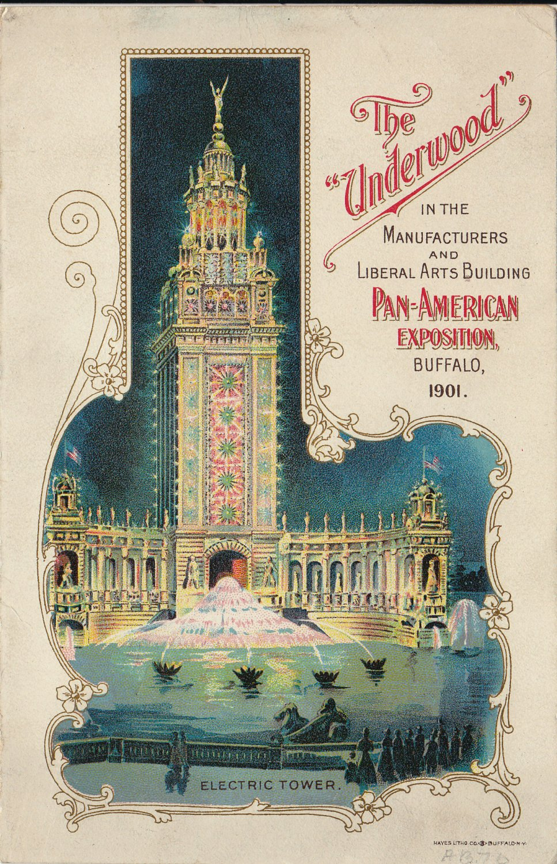 Underwood Typewriter brochure - Pan Am Expo