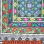 """Hand Cross Stitch Quilt Tapestry Throw 22x60"""" Embroidery Textile Sewing Art #127"""