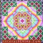 """Hand Cross Stitch Quilt Tapestry Throw 44x44"""" Embroidery Textile Sewing Art #131"""