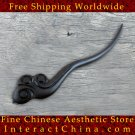 Luxury Solid Ebony Wood Hair Accessories Stick Pin 100% Hand Carved Wood Art #103 - FREE SHIPPING
