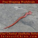 Luxury Solid Sandalwood Hair Accessories Stick Pin 100% Hand Carved Wood Art #111 - FREE SHIPPING
