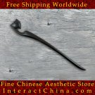 Luxury Solid Ebony Wood Hair Accessories Stick Pin 100% Hand Carved Wood Art #124 - FREE SHIPPING
