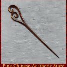 Luxury Solid Sandalwood Hair Accessories Stick Pin 100% Hand Carved Wood Art #128 - FREE SHIPPING