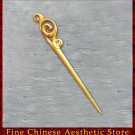 Luxury Solid Mahogany Hair Accessories Stick Pin 100% Hand Carved Wood Art #130 - FREE SHIPPING
