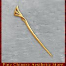 Luxury Solid Mahogany Hair Accessories Stick Pin 100% Hand Carved Wood Art #132 - FREE SHIPPING