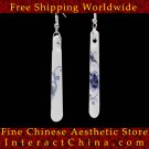 Deluxe Porcelain Drop Dangle Earrings Jewelry 100% Handcrafted Jingdezhen Art #109 - FREE SHIPPING