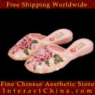Women Vintage Slip On Slipper Sandal Flip Flop Shoes - Handmade Sequin Artwork #101 - FREE SHIPPING