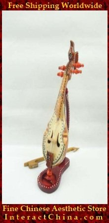 Uyghur Violin Fiddle Silk Road String Musical Instrument Xinjiang Music Khushtar 45cm