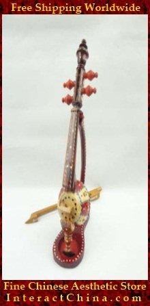 Uyghur Violin Fiddle Silk Road String Musical Instrument World Music Ghijek 45cm