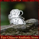 Fine 99 Ring High Purity Sterling Silver Jewelry 100% Handcrafted Art #102