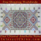 "Hand Cross Stitch Quilt Tapestry Throw 40x64"" Embroidery Textile Sewing Art #118"