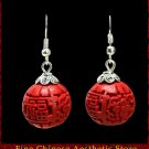 Genuine Fine Chinese Lacquer Drop Dangle Earring Jewelry 100% Handcraft Artwork #101 - FREE SHIPPING