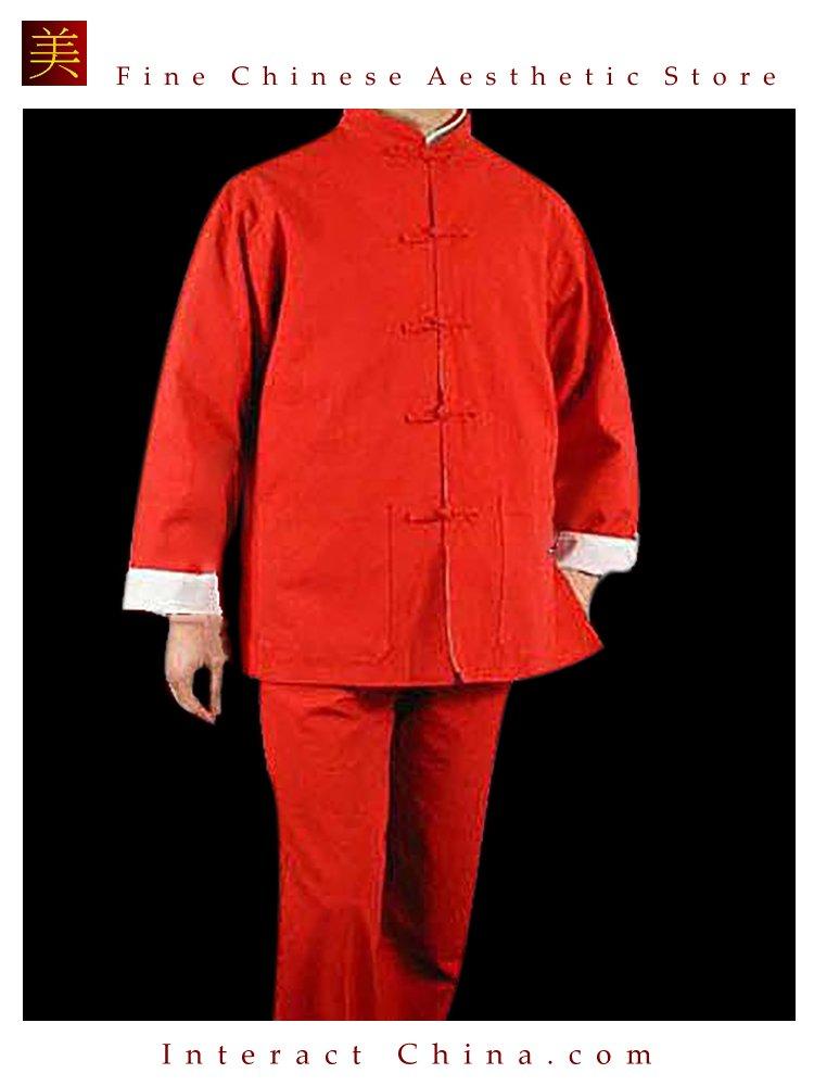 Premium Linen Red Kung Fu Martial Arts Taichi Uniform Suit XS-XL or Tailor Custom Made