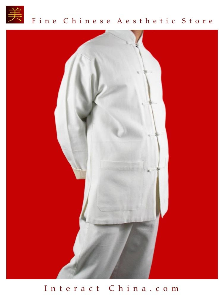 Fine Linen White Kung Fu Martial Arts Tai Chi Uniform Suit XS-XL or Tailor Custom Made