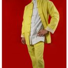 100% Cotton Golden  Kung Fu Martial Arts Tai Chi Uniform Suit XS-XL or Tailor Custom Made