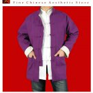 Fine Linen Purple Kung Fu Martial Arts Tai Chi Jacket Coat XS-XL or Tailor Custom Made