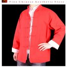 100% Cotton Red Kung Fu Martial Arts Tai Chi Jacket Coat XS-XL or Tailor Custom Made