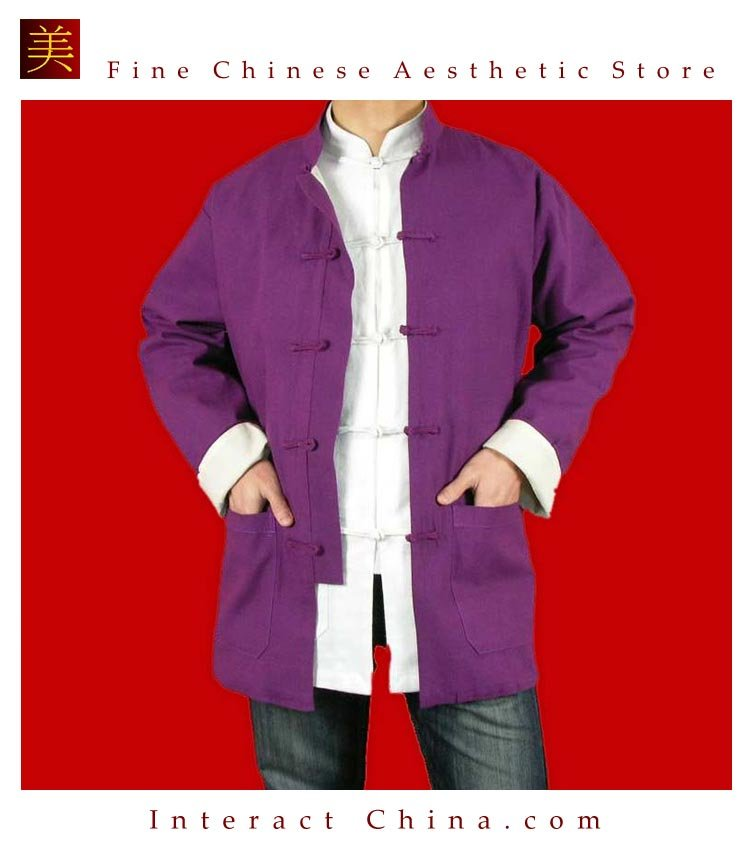 100% Cotton Purple Kung Fu Martial Arts Tai Chi Jacket Coat XS-XL or Tailor Custom Made