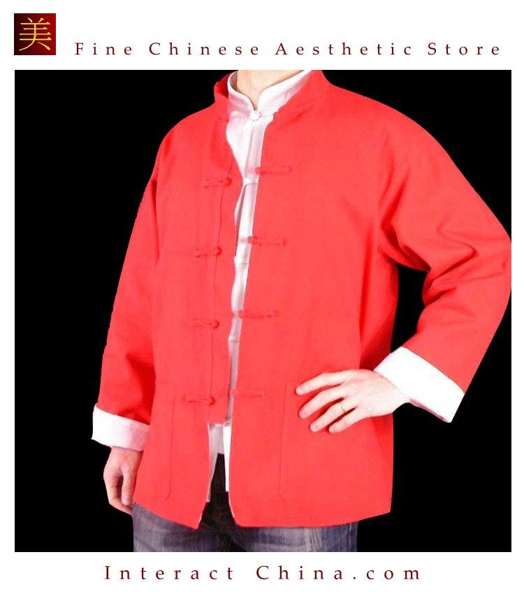 Premium Linen Red  Kung Fu Martial Arts Tai Chi Jacket Coat XS-XL or Tailor Custom Made