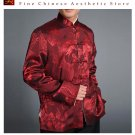 Chinese Tai Chi Kungfu Reversible Red / Gold Jacket Blazer 100% Silk Brocade #106