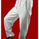 Premium Linen White Kung Fu Martial Art Taichi Pant Trousers XS-XL or Tailor Custom Made