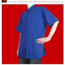 Premium Linen Blue Kung Fu Martial Arts Tai Chi Shirt Clothing XS-XL or Tailor Made