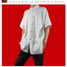 Premium Linen White Kung Fu Martial Arts Tai Chi Shirt Clothing XS-XL or Tailor Made