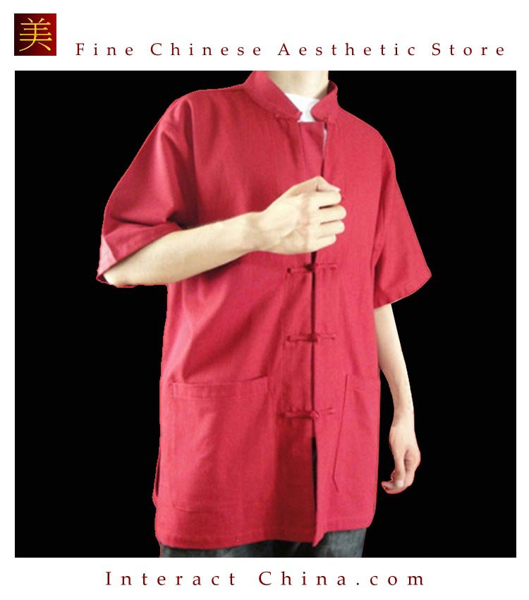 Premium Linen Red Kung Fu Martial Arts Tai Chi Shirt Clothing XS-XL or Tailor Made