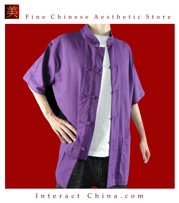 Premium Linen Purple Kung Fu Martial Arts Tai Chi Shirt Clothing XS-XL or Tailor Made