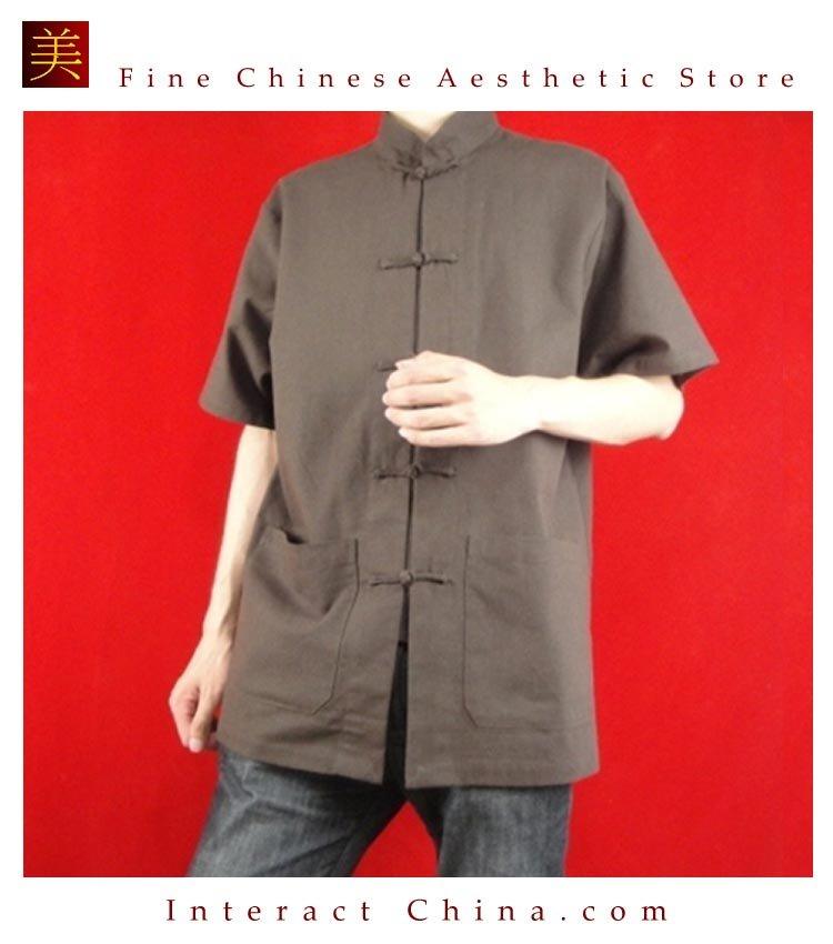Premium Linen Brown Kung Fu Martial Arts Tai Chi Shirt Clothing XS-XL or Tailor Made
