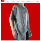 100% Cotton Grey Kung Fu Martial Arts Tai Chi Shirt Clothing XS-XL or Tailor Custom Made