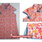 Handmade Girls Dress Chinese Cheongsam Qipao Children Kids Cotton Clothing #112