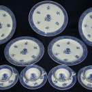 RARE 13 Piece Wedgwood Luncheon Set - Blue Calico Pattern