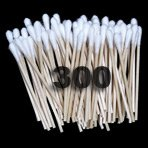 Wooden Single End Premium QTips - Qty 300 made in USA - Q-Tips - Free Shipping