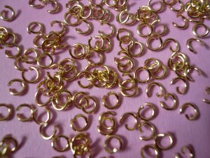 Goldplated Open Jump Rings 4mm