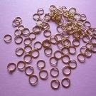 Goldplated Open Jump Rings 7mm