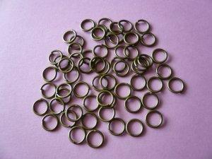 Bronze Color Metal Jump Rings  7mm