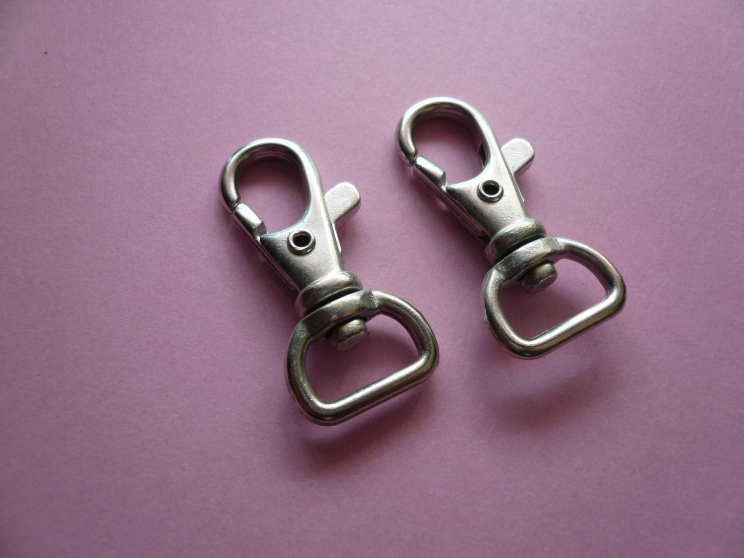 Silverplated Metal Swivel Lobster Clasps  6pcs