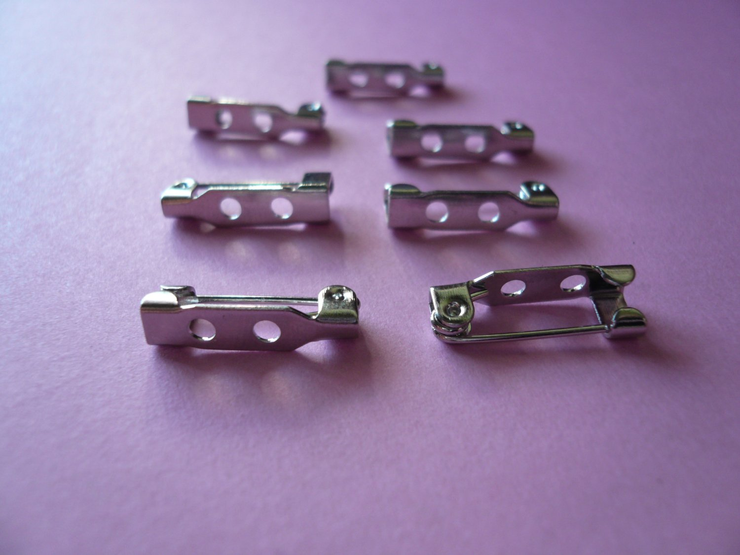 Silverplated Nickel Free Metal Brooch Bar Pin Backs *18mm or ¾inch*