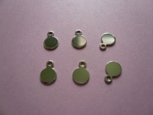 Silverplated Metal Tag for Cabochon 5mm