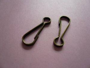 Lanyard Snap Clip Hooks Brass Colour 24mm